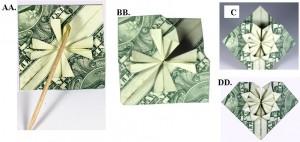 Easy Money Origami Heart Folding Instructions - How to Make Dollar ...   142x300