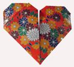 a pretty folded flower heart